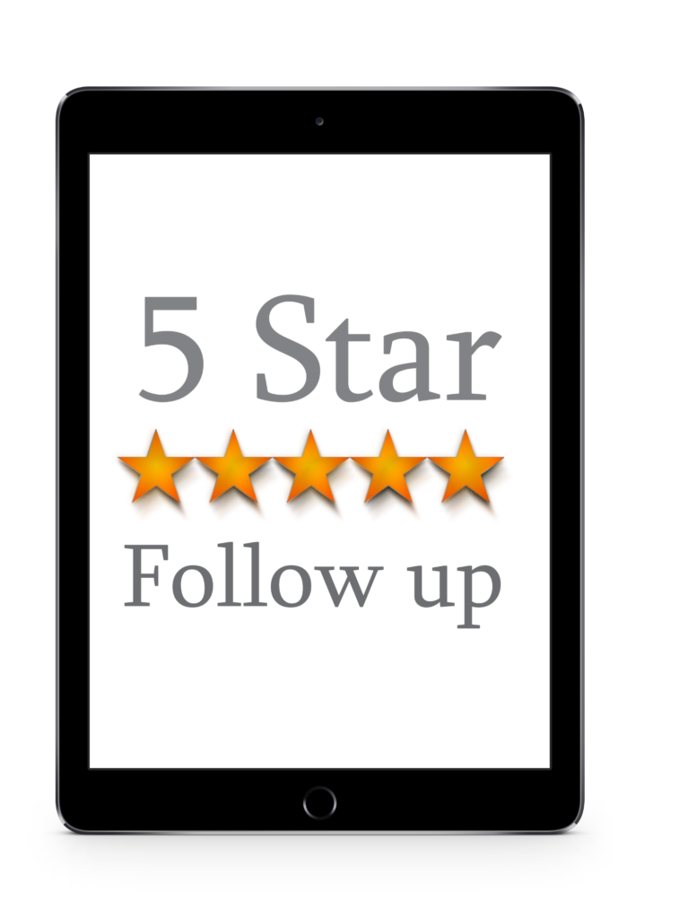 About Chad Graue 5 star follow up logo