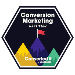 leadpages conversion consultant badge